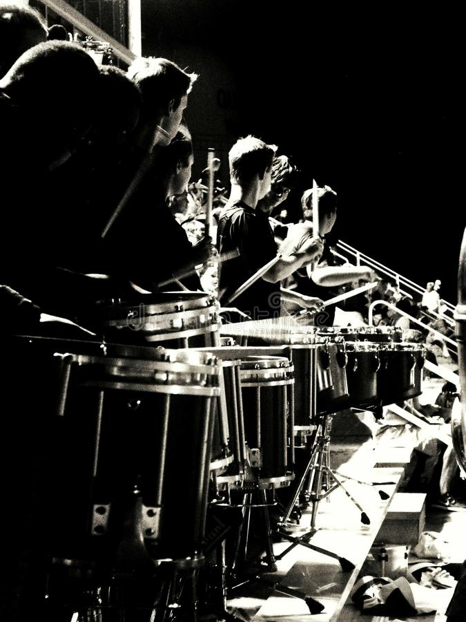 Drumline stock fotografie