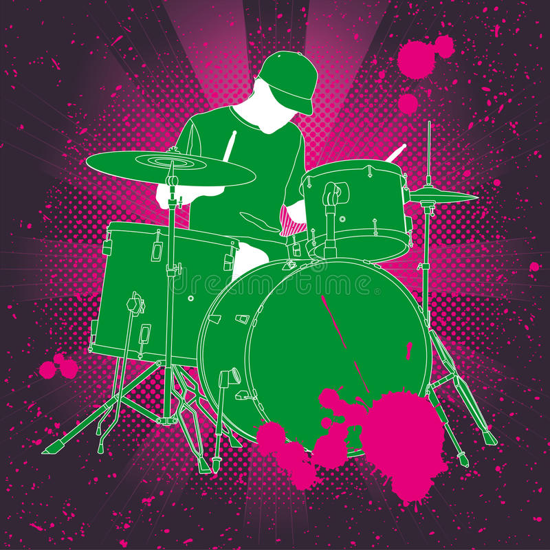 Download Drummer Royalty Free Stock Image - Image: 14089936