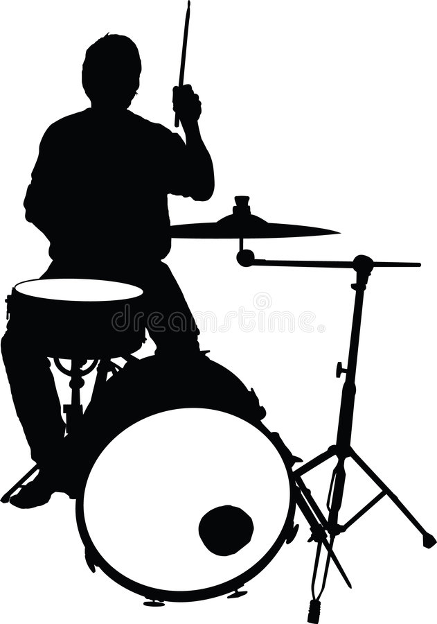 Download The Drummer stock vector. Image of drums, practice, performance - 5047976