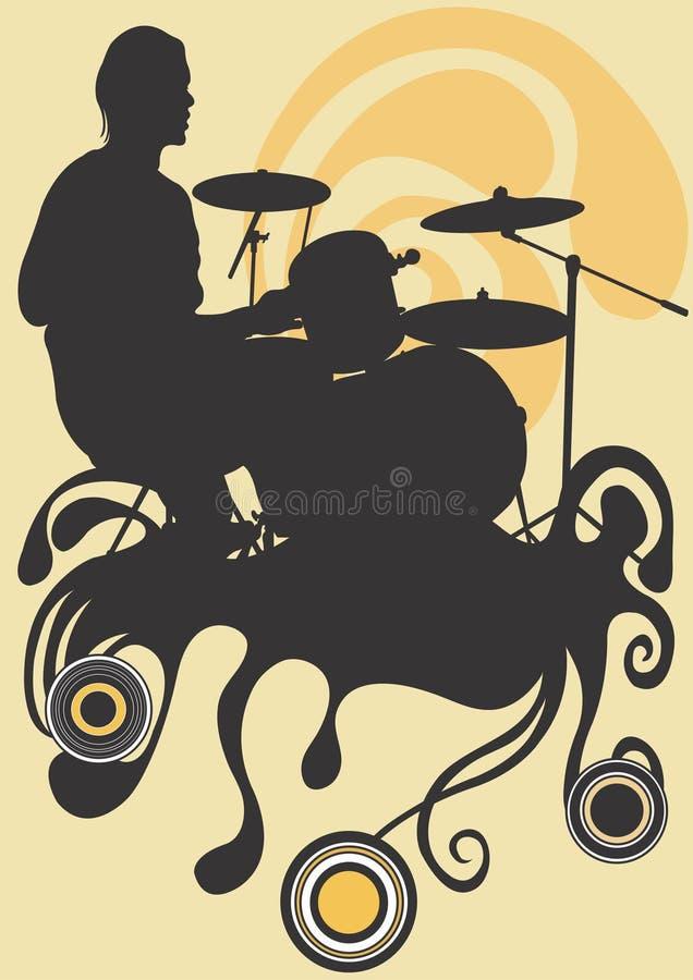 Drummer royalty free illustration
