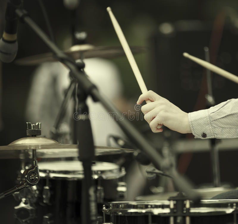 Download Drummer stock photo. Image of finger, person, electrical - 30505100