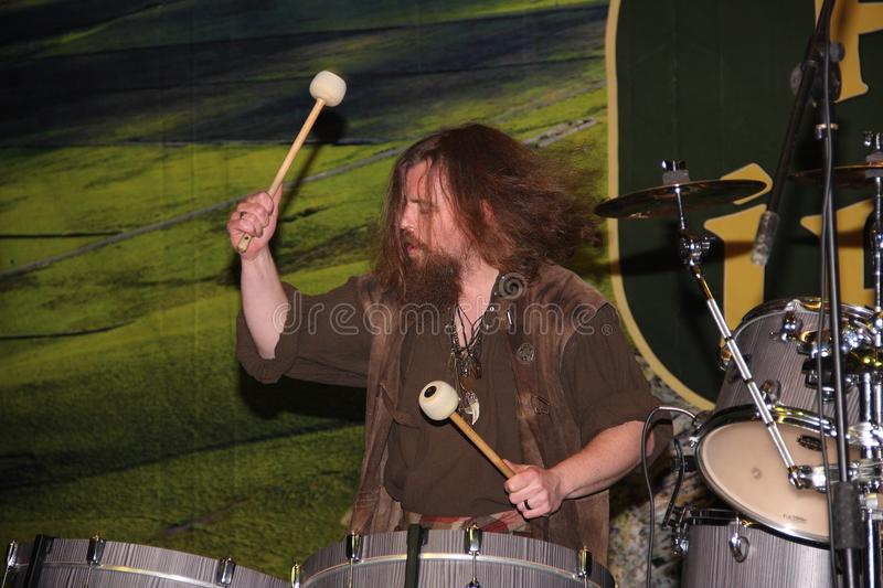 Drummer of the Hit Machines Drummers group royalty free stock photos