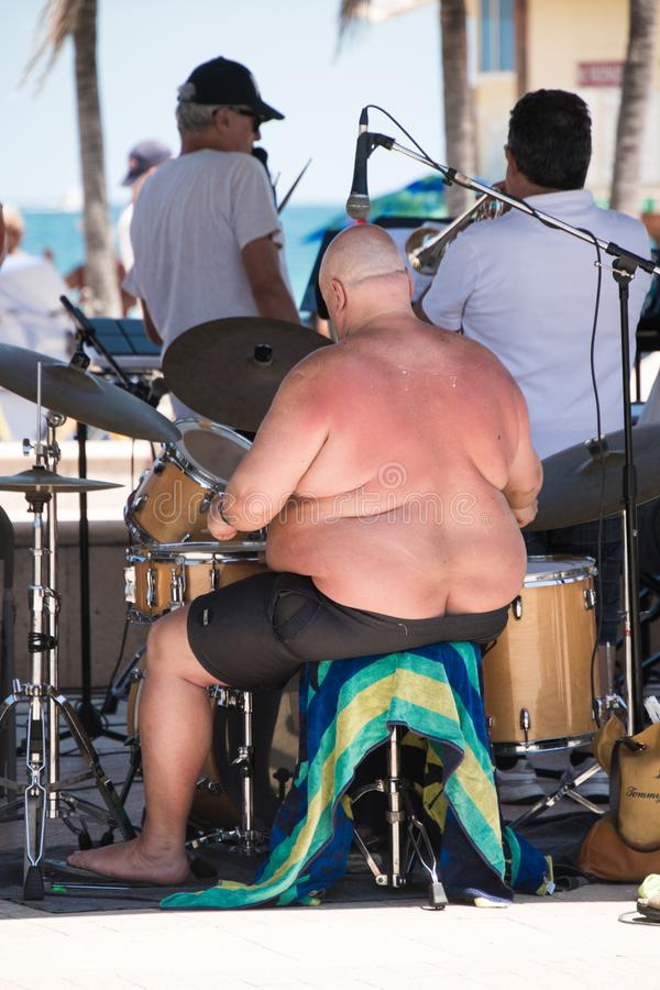 Free Drummer In Band On Boardwalk Royalty Free Stock Photo - 116215335