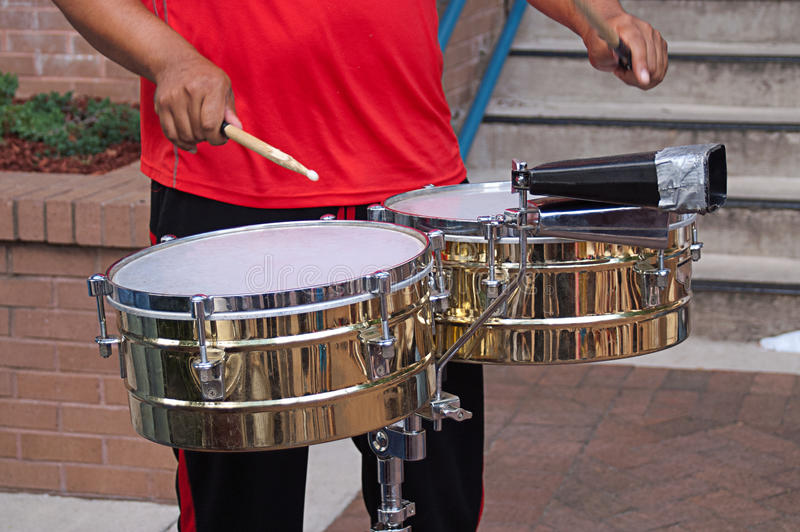 Drummer Playing Drums Royalty Free Stock Image