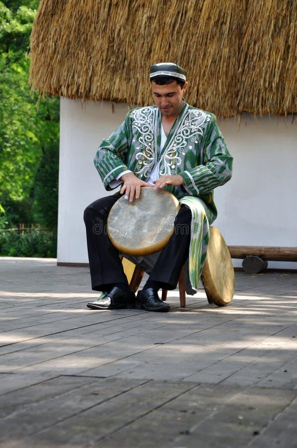 Drummer, Rhytms of Uzbekistan royalty free stock images