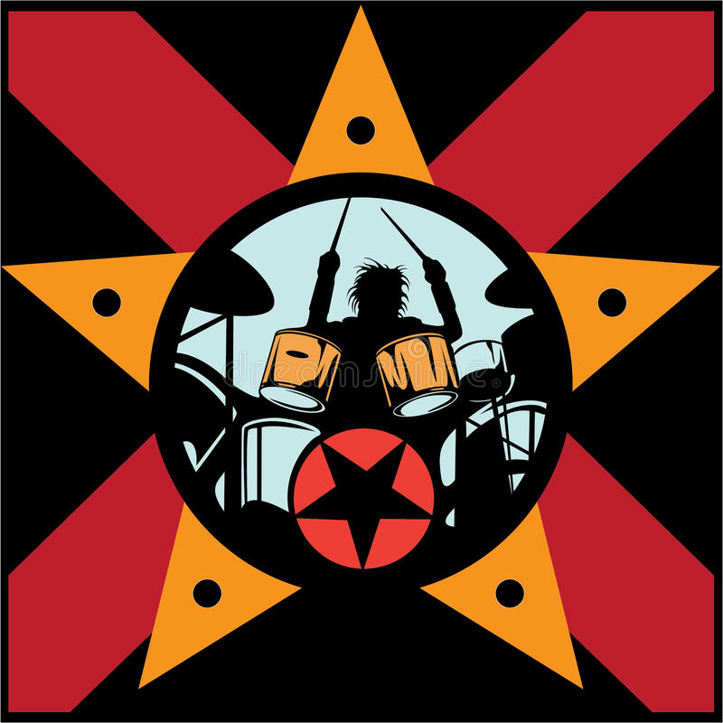 Download Drummer rock star stock vector. Image of music, punk - 20733161