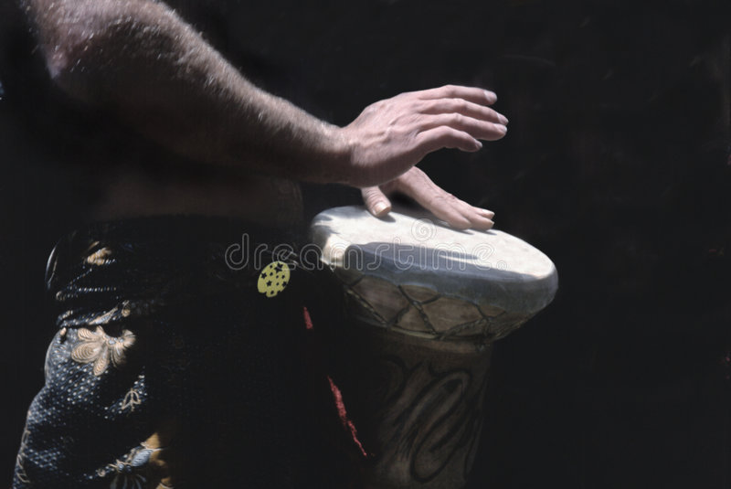 Drummer's hands royalty free stock image