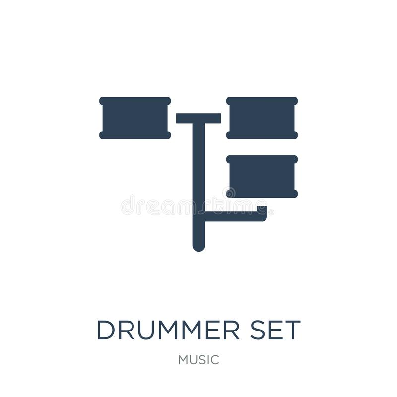 drummer set icon in trendy design style. drummer set icon isolated on white background. drummer set vector icon simple and modern vector illustration