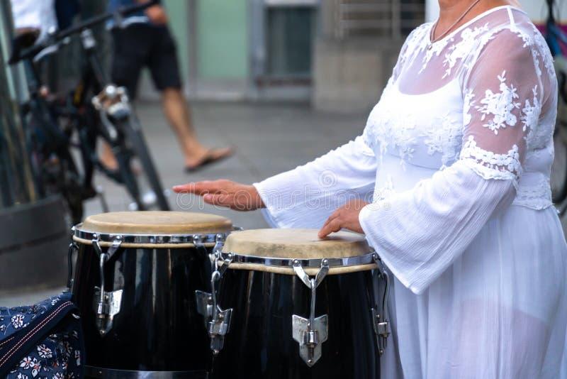 Drummer-speler royalty-vrije stock afbeelding