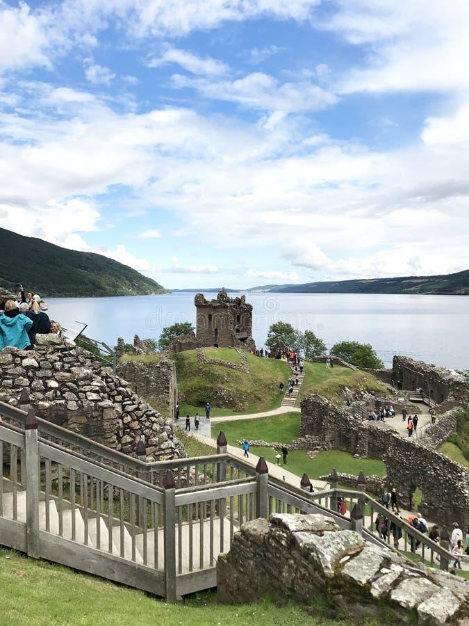 Drumnadrochit, Inverness/Regno Unito - 8 agosto 2017: Urquha fotografia stock