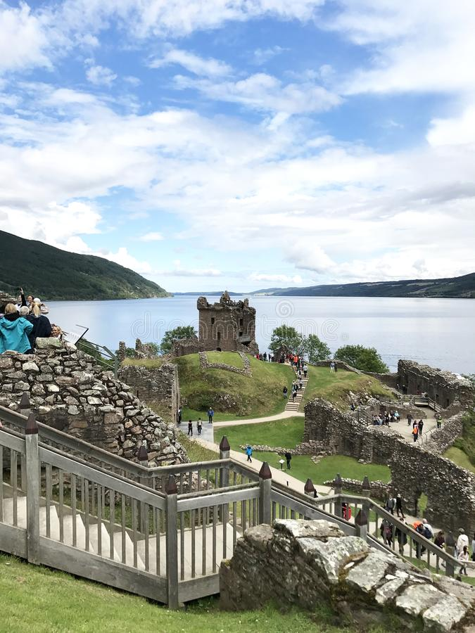 Download Drumnadrochit, Inverness/United Kingdom - August 8, 2017: Urquha Editorial Photography - Image of castle, brick: 103504652