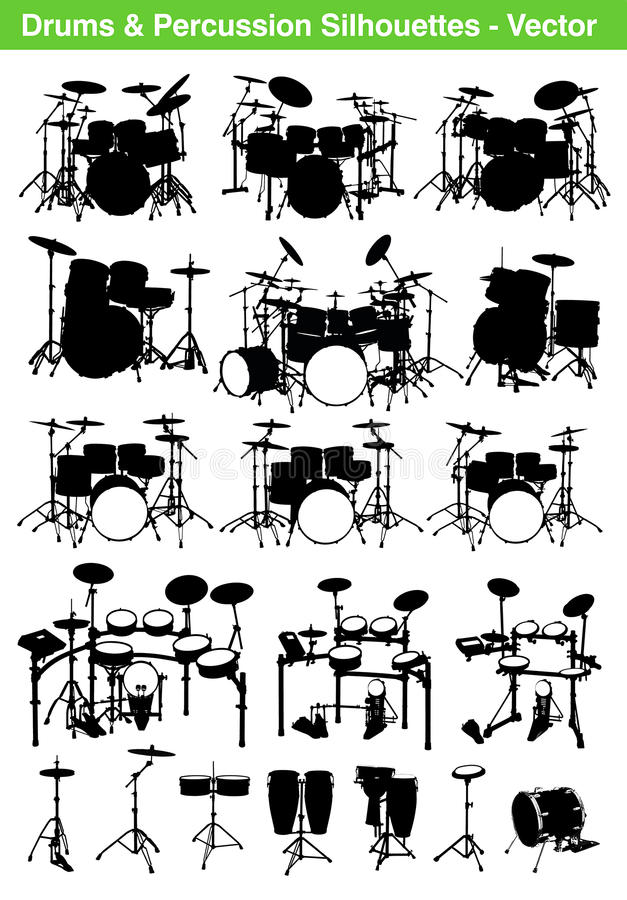 Drums royalty free illustration