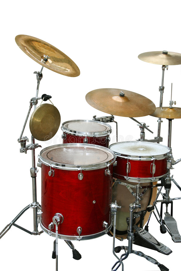 Drums. Isolated on white background royalty free stock photo