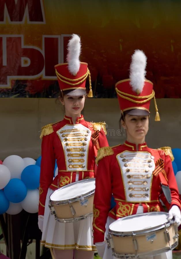 drums flickor royaltyfria bilder