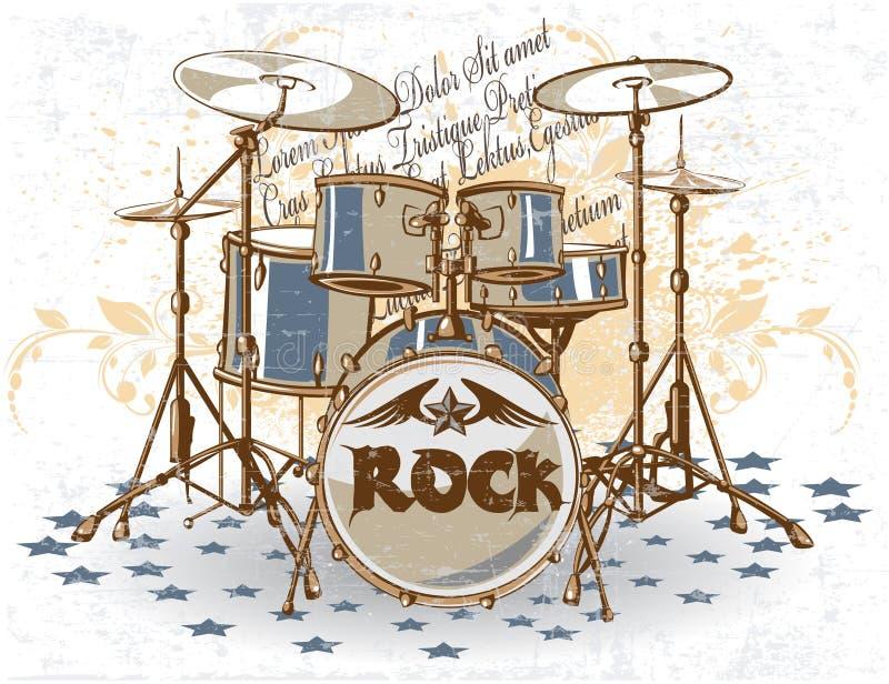 Drums vintage stock image