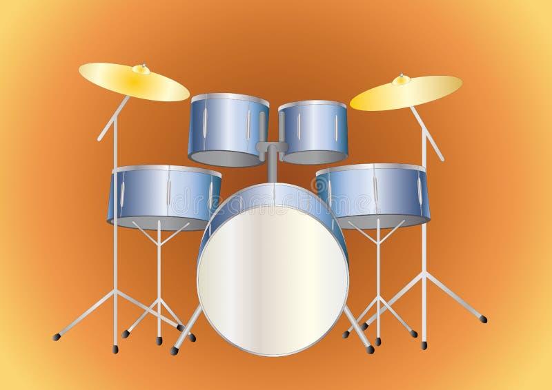 Drumset illustrazione di stock