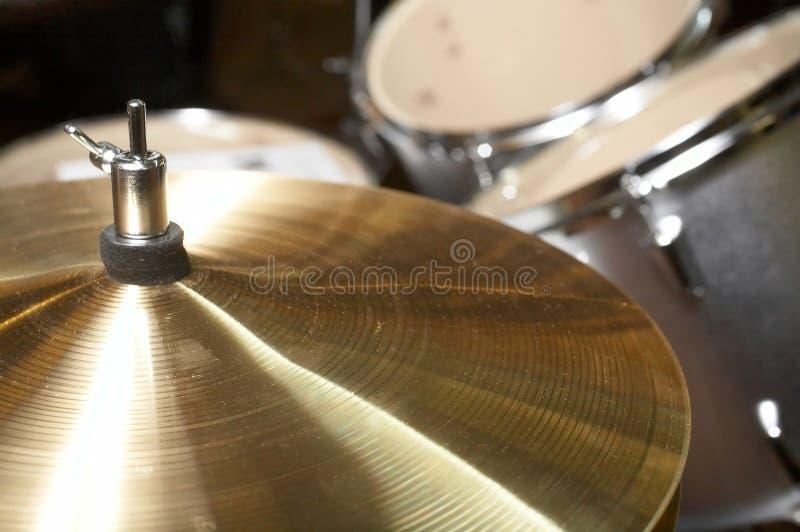 drumset cymbałki obrazy stock