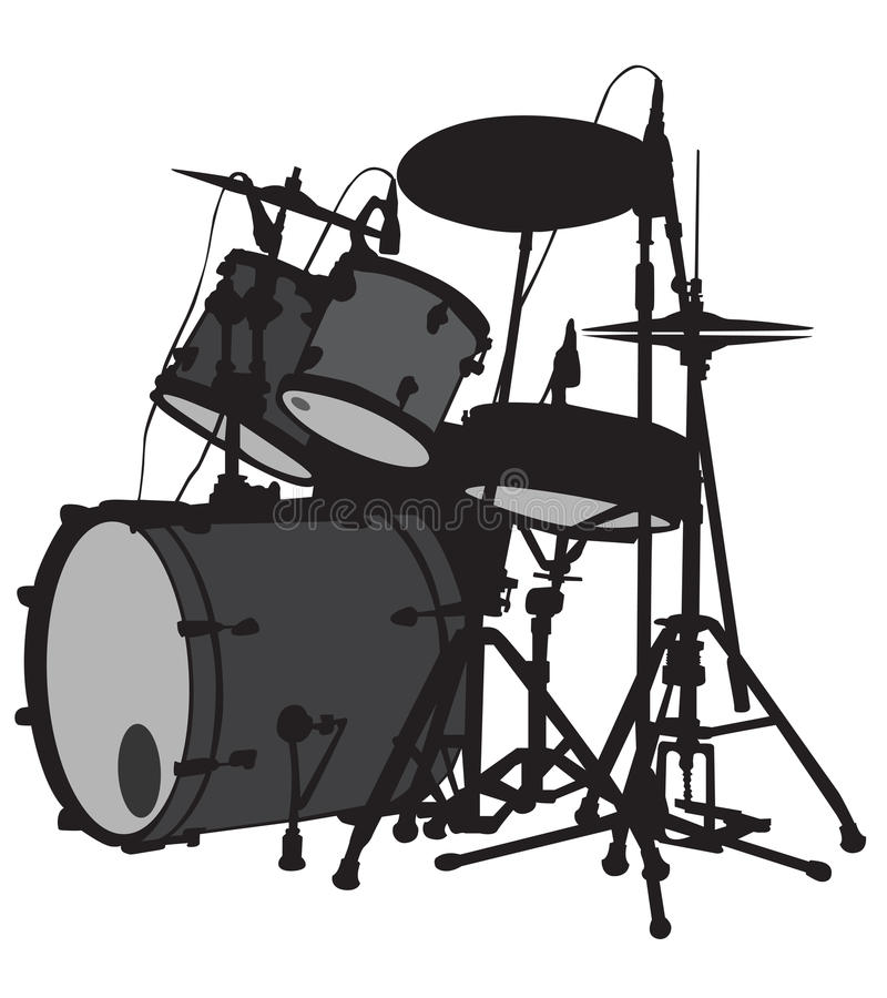 Drumstel royalty-vrije illustratie