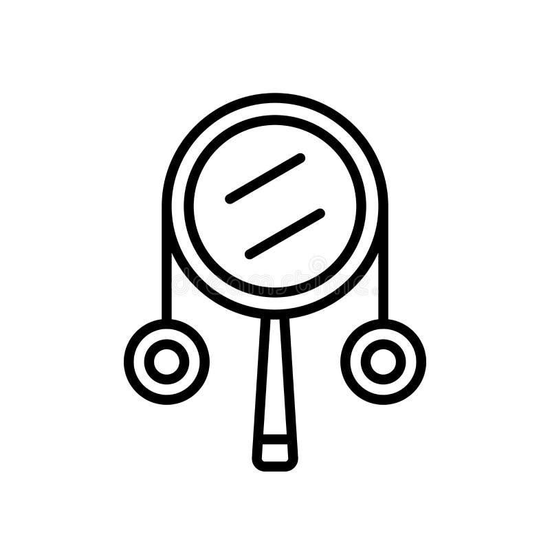 Drumstick ikony wektor odizolowywający na białym tle, Drumstick znak royalty ilustracja