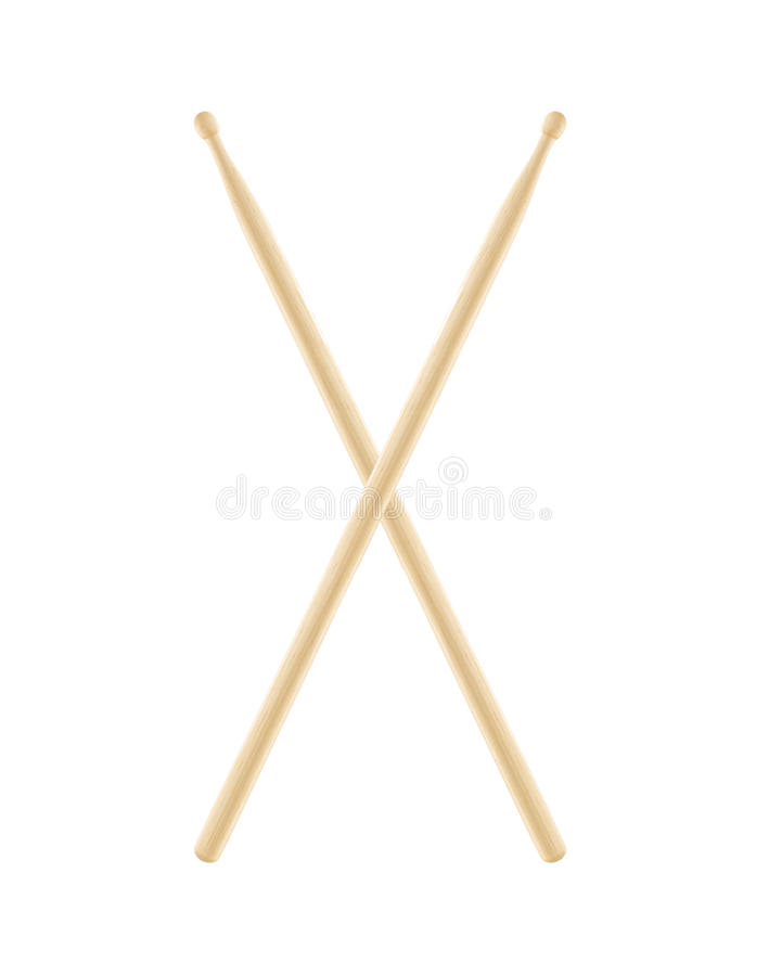 Drumsticks isolated on white background royalty free stock image
