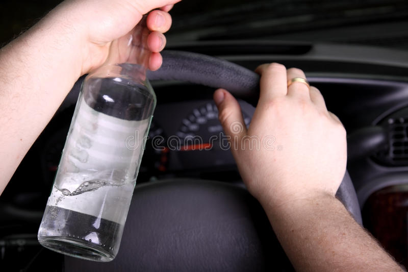 Drunk driver royalty free stock photos