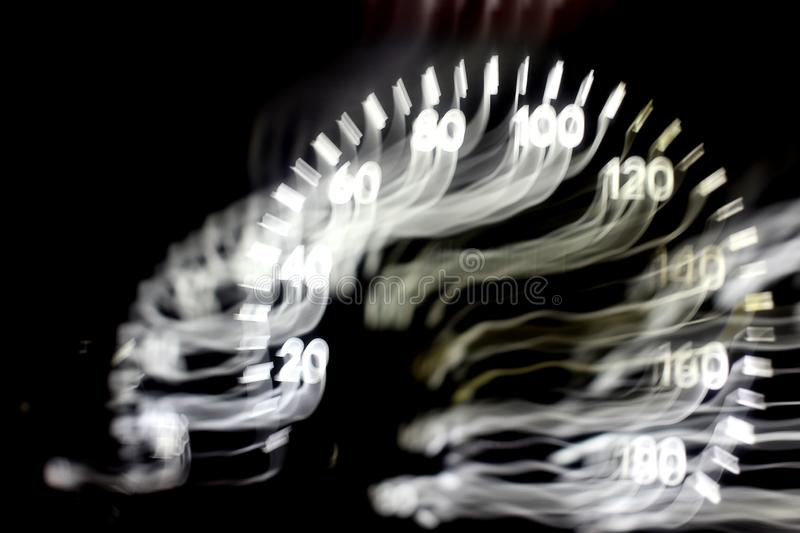 Drunk driver goes at night. view from inside. abstract. Drunk driver goes at night. view from inside. abstrac royalty free stock image