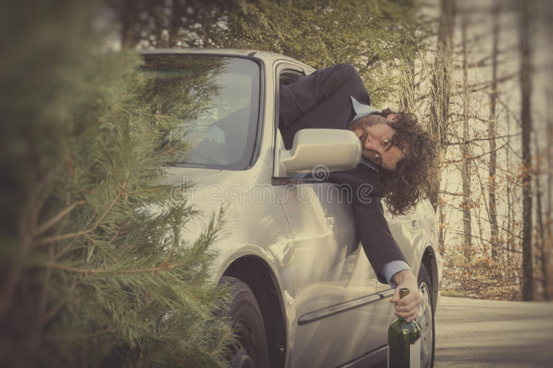 Drunk Driving Car Accident royalty free stock images
