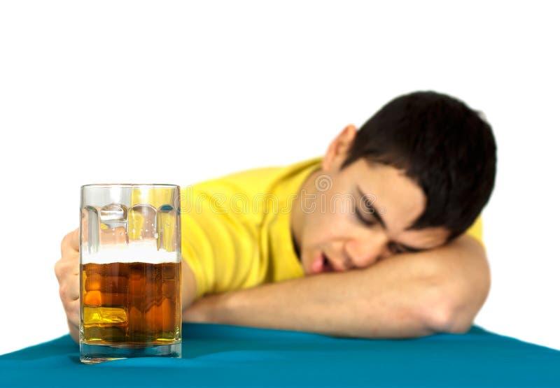 Drunk man royalty free stock image