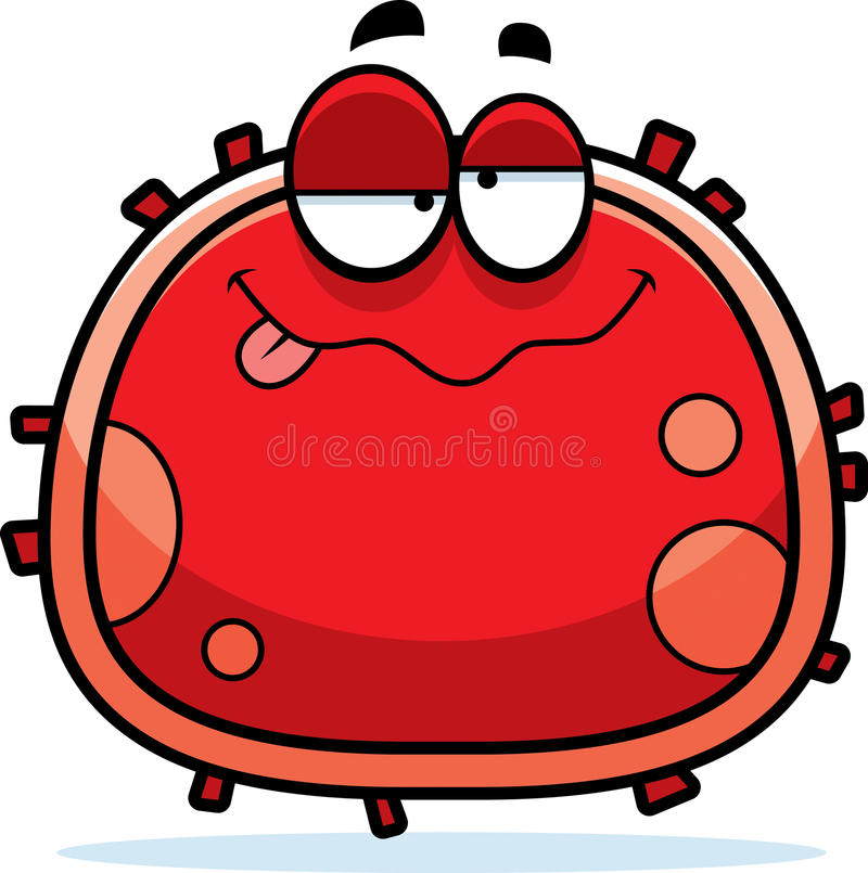 Drunk Red Blood Cell vector illustration