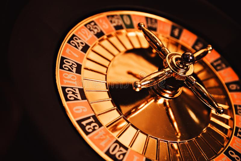 Drunk roulette .play for a big company, vintage photo royalty free stock images