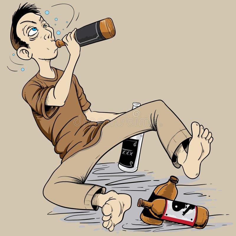 drunkard vector illustratie
