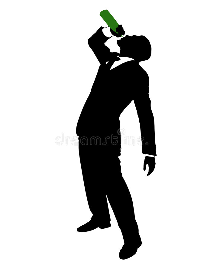 Drunken businessman royalty free stock image