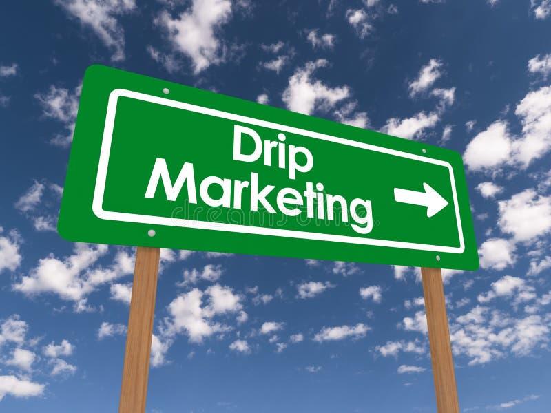Druppel marketing straatteken stock illustratie