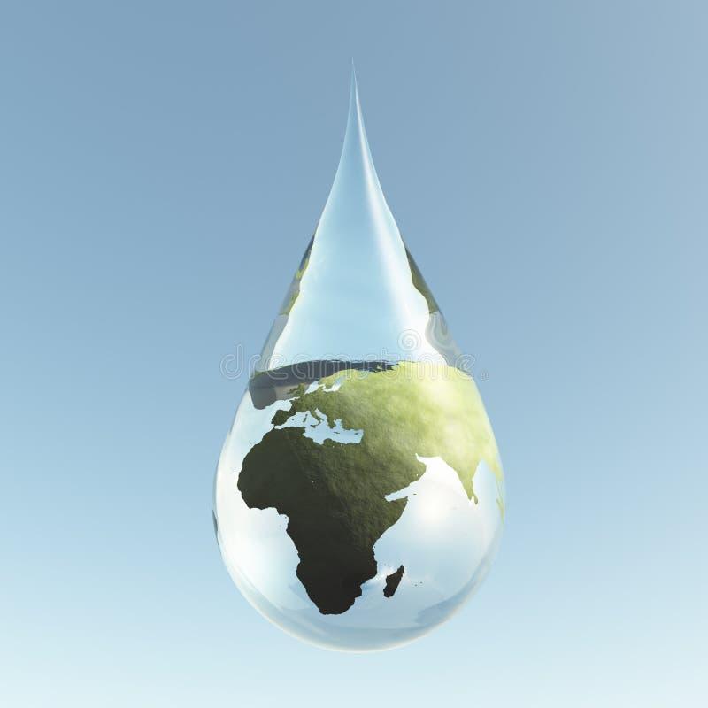 Druppeltje Afrika Azië stock illustratie