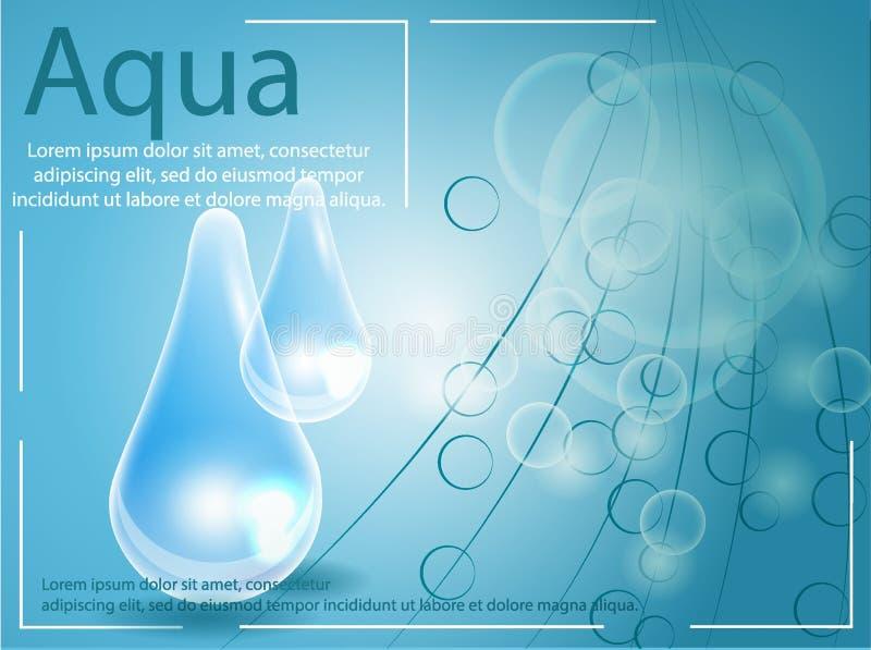 Druppeltje van het premie het glanzende serum Vector illustratie royalty-vrije illustratie