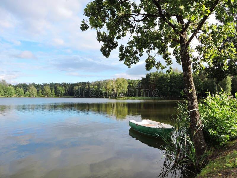 Druskonis湖,立陶宛 免版税库存图片
