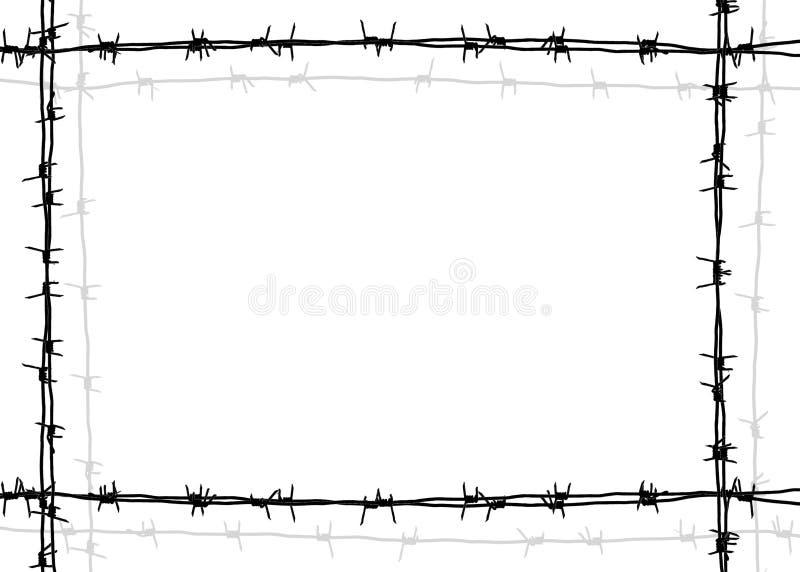 Drut kolczasty rama ilustracja wektor