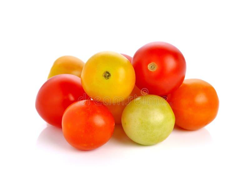 Druva eller körsbärsröda tomater arkivfoto