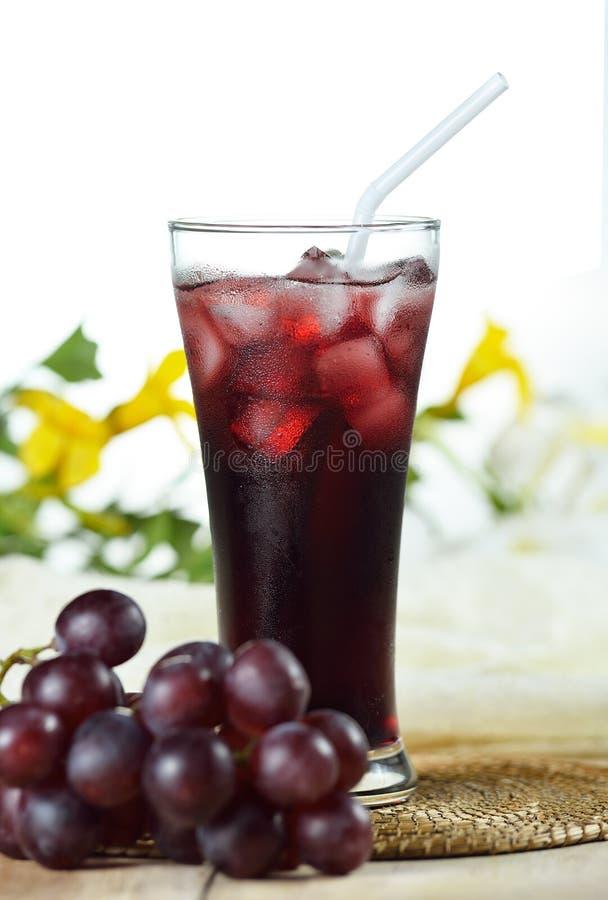 Druvafruktsaft, den sunda drinken för kopplar av royaltyfria bilder