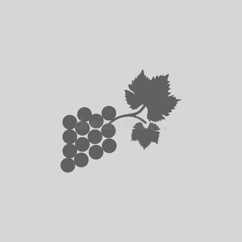 Druvasymbolsmat vektor illustrationer
