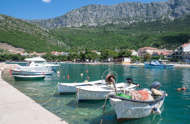 Drvenik, Makarska Riviera, Dalmatië, Kroatië royalty-vrije stock foto