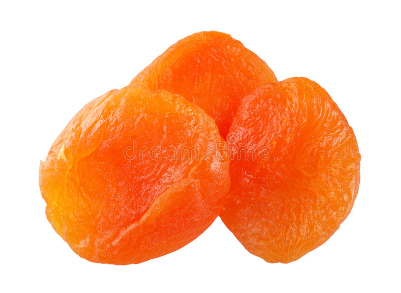 Dry apricot stock image