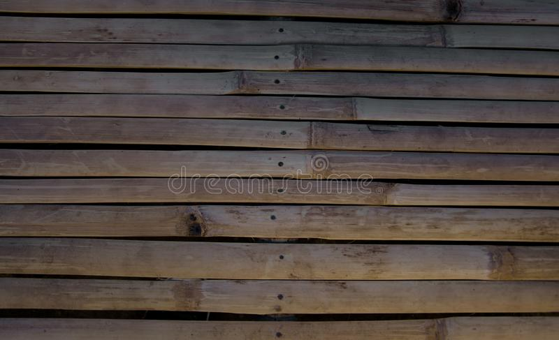 Dry bamboo patterns are commonly made benches in the countryside stock photography