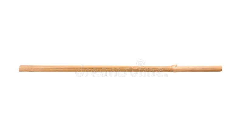 Dry bamboo stick. On white background royalty free stock photo