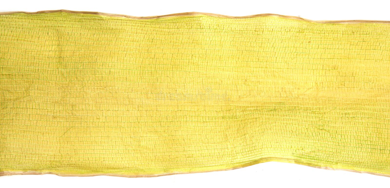Dry banana leaf on white