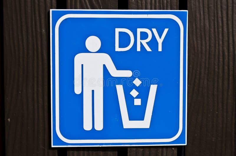 Dry bin post royalty free stock photo