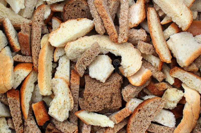 Dry bread slices royalty free stock photo