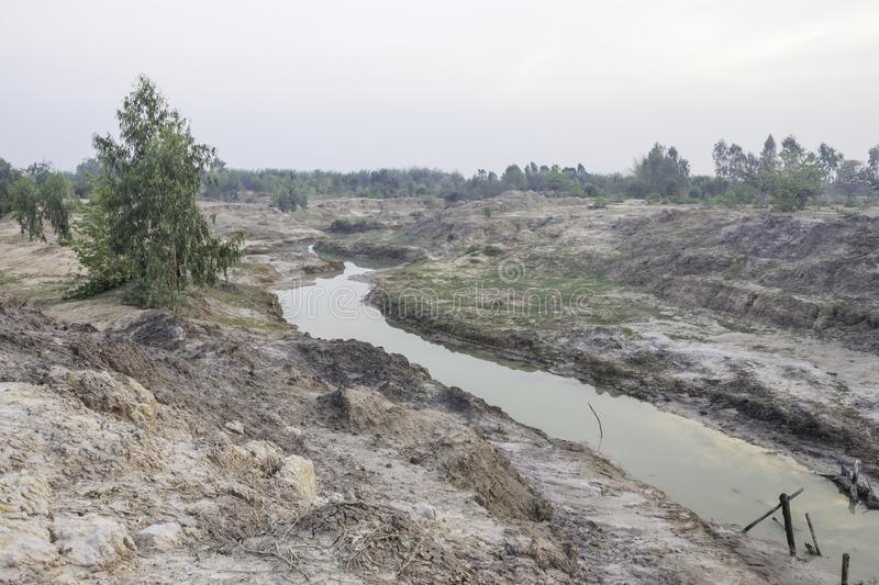 Dry canal stock image