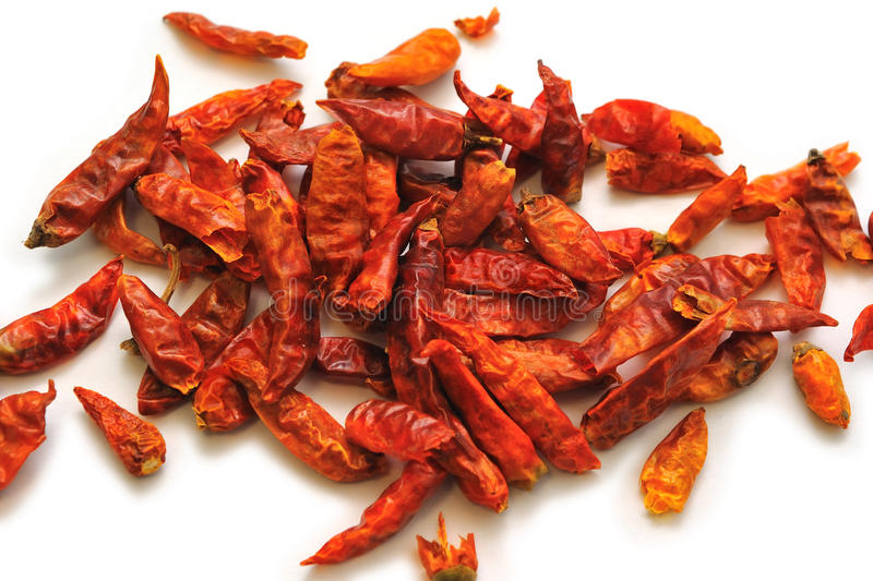 Dry Chili Peppers royalty free stock photos