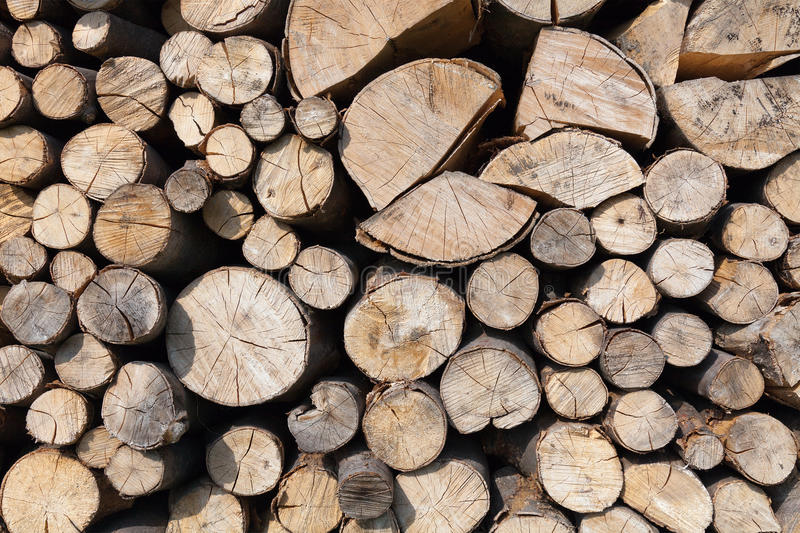 Dry Chopped Firewood Stock Photos